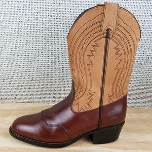 DURANGO Brown Leather Western Cowboy Boots B1251